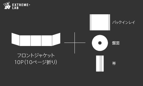 CDプレス|ジュエルケース:10P折り