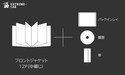 CDプレス|ジュエルケース:12P(中綴じ)